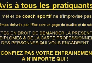 Avis à tous les pratiquants : faites attention avant de choisir votre coach !